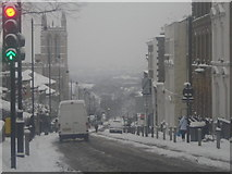 TQ3370 : Gipsy Hill in heavy snow by Christopher Hilton