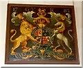 SU9039 : Royal Arms of King George III, 1783, in Thursley church by Stefan Czapski
