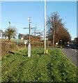 ST0974 : Roadside weather mast, A48 east of St Nicholas by Jaggery