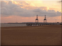 TG5307 : Great Yarmouth: the jetty from Britannia Pier by Chris Downer