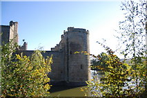 TQ7825 : Bodiam Castle - south west tower by N Chadwick