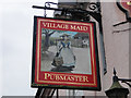 TM5099 : The Village Maid PH sign by Adrian S Pye