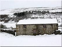 SD9772 : Longroods Barn near Kettlewell by Stephen Craven