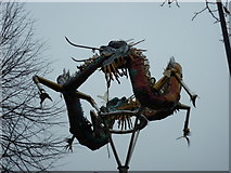TQ3780 : Dragons on West India Dock Road, London by Ian S