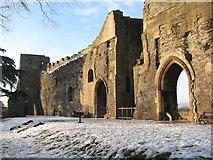 SK7954 : Newark Castle: the curtain walls by John Sutton