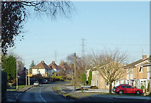 SO8690 : Wombourne Road at  Swindon, Staffordshire by Roger  Kidd