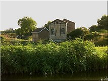 TL5369 : Out of plumb: old fenland pump-engine house at Upware by Stefan Czapski
