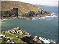 SW4237 : Cornish coast from Porthmeor Cove by Philip Halling