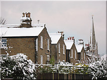 TQ4077 : Roofs of houses on St John's Park by Stephen Craven
