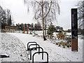 SJ4065 : Edgar's Field Park in the snow by John S Turner