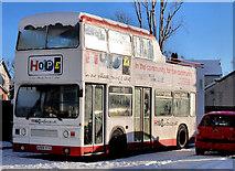 "J3673 : ""Hope"" bus, Belfast by Albert Bridge"