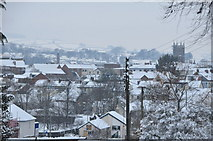 SS9612 : Tiverton : Snowy Rooftops by Lewis Clarke