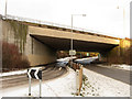 TQ3408 : Two Roads, One Bridge by Simon Carey