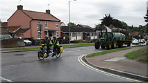 TM3877 : Tandem passing the junction of Wissett Road and Norwich Road by Basher Eyre