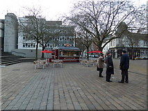 SU6400 : Coffee stall in Guildhall Square by Basher Eyre