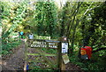 TQ5136 : Entrance to the Forest Way Country Park, B2110 by N Chadwick
