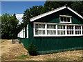 TL1348 : Old prefabricated building at Moggerhanger Park by John Brightley