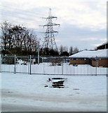 ST3186 : Pylon behind Conference Centre, Newport by Jaggery