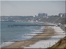 SZ1191 : Boscombe: the pier from Southbourne cliffs by Chris Downer
