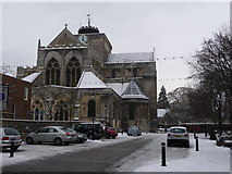 SU3521 : Romsey: the abbey from Church Street by Chris Downer