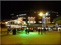 SZ0891 : Bournemouth: The Square on a cold wintry night by Chris Downer