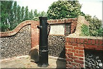 TQ6668 : Old Water Pump in Cobham Village by Roger Smith