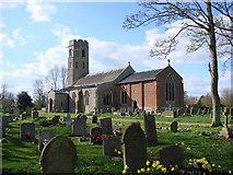 TM2692 : Topcroft St Margaret's church by Adrian S Pye