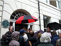 TQ2881 : Medical history tour in Upper Wimpole Street by ceridwen