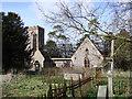 TG2504 : Bixley St Wandregesilius' burnt out church by Adrian S Pye