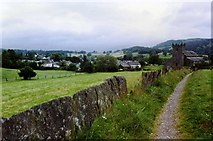 SD3598 : Path leading to St Michael and All Angels' Church, Hawkshead by David Gearing