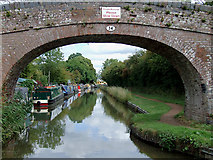 SO9262 : Worcester and Birmingham Canal near Hadzor, Worcestershire by Roger  Kidd