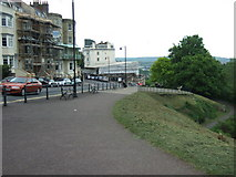 ST5673 : Looking down Sion Hill to the Avon Gorge Hotel by C P Smith