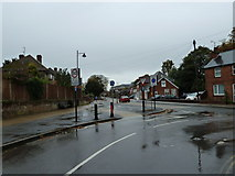 SU6351 : Junction of Cliddesden and Hackwood Roads by Basher Eyre