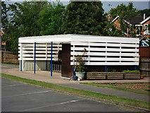 SP2871 : Cycle store, Clinton Primary School by John Brightley