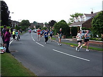 SP2871 : Brookside Avenue during the Two Castles Run 2010 by John Brightley