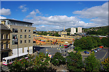SE0925 : View from Northgate House towards the Broad Street Plaza site, Halifax by Phil Champion