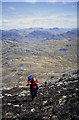 NG8006 : Ascending the east ridge of Beinn na Caillich by Walter Baxter