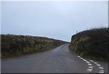 SX5646 : Road to Battisborough at Stoke Cross by David Smith