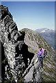 NN1558 : The Aonach Eagach Ridge in Glen Coe by Walter Baxter