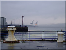 NS2975 : Capstan by James Watt Dock by Thomas Nugent