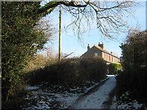 TR2849 : Bridleway junction on Flax Court Lane by David Anstiss