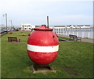 TM5176 : Collection box on North Promenade, Southwold by Evelyn Simak