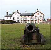 TM5075 : Cannon on Gun Hill, Southwold by Evelyn Simak