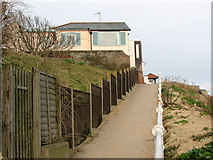 TM5075 : Cottages on the Promenade above Southwold Beach by Evelyn Simak