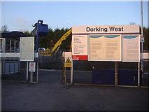 TQ1649 : Dorking West station entrance by David Howard