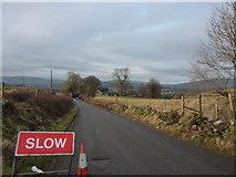 SK0780 : Roadworks on lane to Blackbrook by Peter Barr