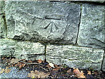 SY6778 : Benchmark on railway bridge, Chickerell Road by Roger Templeman