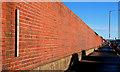 J3574 : Old shipyard wall, Belfast by Albert Bridge