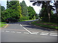 TQ1460 : Holtwood Road, at junction with Goldrings Road, Oxshott by David Howard