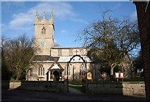 SK7288 : Clayworth Church in winter  by roger geach